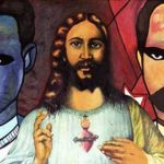 De la Fé, Pintura, Óleo sobre Lienzo (Arte Cubano) Cuban Painting Art-Politics (Guantanamera) Utopia Dogma Re-in-Volución in-Migration balsero rafters' crisis. Of Faith, Oil on Canvas (Cuban Art Appropriation) Contemporary Art Visual arts Arte-Politica Migration Crisis de los Balseros. Arte Contemporáneo artes visuales