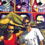 Base Naval Guantánamo Naval Base. Pintura, Óleo sobre Lienzo (Arte Cubano) Cuban Painting Art-Politics (Guantanamera) Utopia Dogma Re-in-Volución in-Migration balsero rafters' crisis. Contemporary Art Oil-Canvas Arte-Politica Migration Crisis de los Balseros. Arte Contemporáneo.