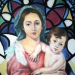 The Virgin and Child Virgen con el Niño (Pintura, Óleo sobre Lienzo). Arte Cubano