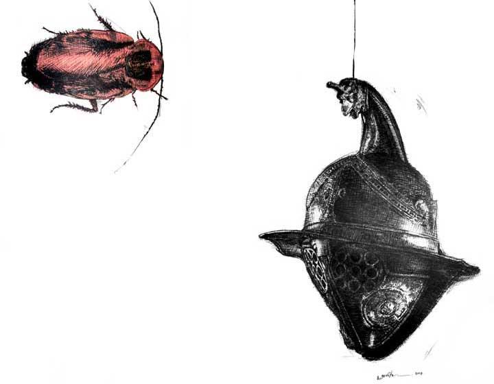 Art-Anthropology: R.E.M. (Contemporary Art) Frenzy, Real-Virtual Dystopia. REM (VII) Distorsión, percepción alucinación y disociación Fase REM Sueño: Real vs Virtual: Lo Ideal. Distopía Futuro Post-Humano (Arte-Antropología). Arte Contemporáneo Cubano, Dibujo REM VII