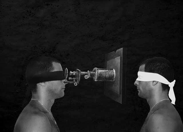 Ernesto Benítez I see you, Visionary Te veo visionario (Uno y Mil Ojos): Texto Visual,y Panóptico Mass-Media Control Surveillance: Art and Ontology (OneThousand Eyes) Digital Contemporary Art Photography Visual Text and MassMedia Panopticon