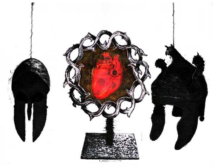 Art-Anthropology: R.E.M. (Contemporary Art) Frenzy, Real-Virtual Dystopia. REM (X) Distorsión, Percepción Alucinatoria y Disociación en la Fase REM del Sueño: Lo Real, lo Virtual y lo Ideal. Distopía y Futuro Post-Humano (Arte-Antropología). Arte Contemporáneo Cubano, Dibujo REM X
