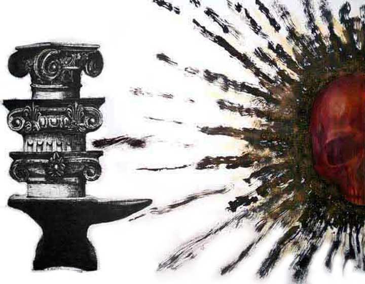 Art-Anthropology: R.E.M. (Contemporary Art) Frenzy, Real-Virtual Dystopia. REM (IX) Distorsión, Percepción Alucinatoria y Disociación en la Fase REM del Sueño: Lo Real, lo Virtual y lo Ideal. Distopía y Futuro Post-Humano (Arte-Antropología). Arte Contemporáneo Cubano, Dibujo REM IX