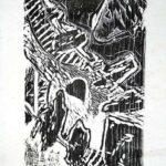 Abstract I Wood Engraving (Xylography) Woodcut, Abstracto I, Contemporary Art Xylography (Woodcutt) Serial Graphic ArtWork. Artistic Engraving (Gravado Artístico Xilografía Obra Gráfica Seriada) Paulita Concepción. reproducción en serie)