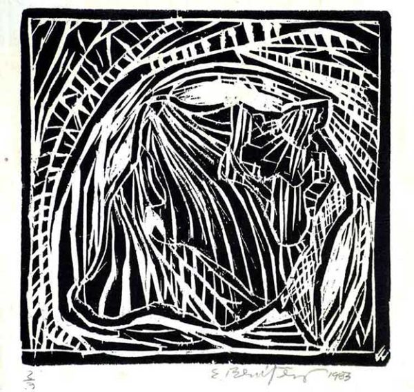 Ernesto Benítez Still Life II Xylography (Limited Edition) Naturaleza Muerta II, Contemporary Art Xylography (Woodcutt) Serial Graphic ArtWork. Artistic Engraving (Gravado Artístico Xilografía Obra Gráfica Seriada) Paulita Concepción. reproducción en serie)