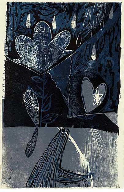Abstract II Xylography (Wood Engraving) Woodcut (Limited Edition) Abstracto II Contemporary Art Xylography (Woodcutt) Serial Graphic ArtWork. Artistic Engraving (Gravado Artístico Xilografía Obra Gráfica Seriada) Paulita Concepción. reproducción en serie)