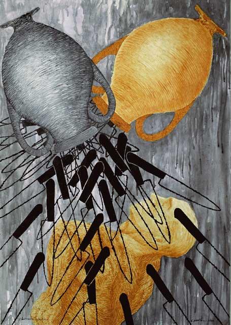 Baptism of each Day Hermetic The Great Flight Fire Ashes, Coal (Contemporary Art and Philosophy Trascendental Alchemy) Bautismo de Día, Multivalencia Simbólica, Trascendencia, Analogía Mística, Antropología y Alquimia. Arte Contemporáneo y Filosofía Hermética (Dibujos con fuego y cenizas). Artes Visuales Cuba (Arte Cubano Contemporáneo)