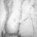 Drawing Nude II, The Human Body, Study of the Natural. San Alejandro Academy of Fine Arts. Contemporary Art Visual Arts Cuban Artist. Desnudo II The Artistic Nude Drawing Pencil on Paper, Havana (Studies in Fine Arts) El Desnudo Artístico, Dibujo Lápiz sobre Papel Academia de Bellas Artes San Alejandro Academy (Habana)
