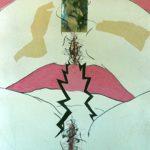 Paper Mixed Media Deliriums II, Erotic Art & Sexuality: Retrograde-Homophobic Society Visual Contemporary Art. Técnica Mixta Delirios II, Arte erótico y sexualidad: Sociedad Homofóbica Retrógrada, Artes Visuales, Arte Contemporáneo Drawing