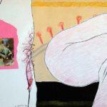 Mixed Media Deliriums IV, Erotic Art & Sexuality: Retrograde-Homophobic Society Visual Contemporary Art. Técnica Mixta Delirios IV, Arte erótico y sexualidad: Sociedad Homofóbica Retrógrada, Artes Visuales, Arte Contemporáneo Drawing