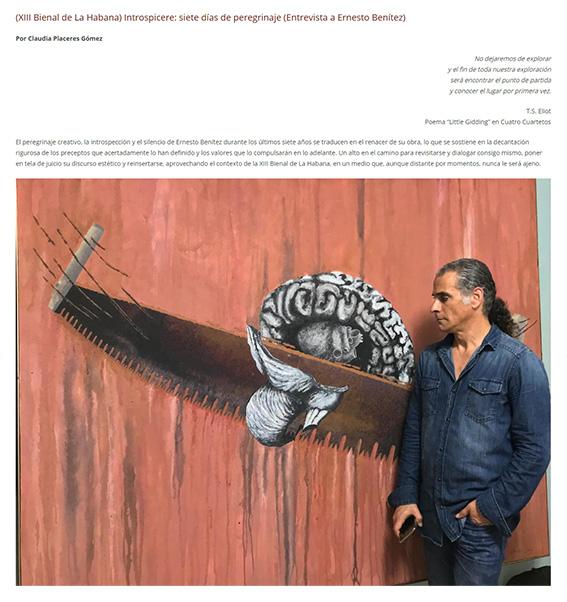 Arte Contemporáneo Cubano: 7 Siete Días de Silencio, Ernesto Benítez