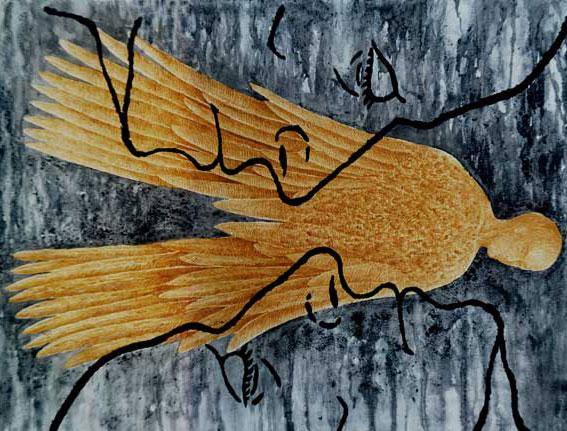 Discurso del Yo: El gran Vuelo, Multivalencia Simbólica, Trascendencia, Analogía Mística y Alquimia. Arte Contemporáneo y Filosofía Hermética (Dibujos con fuego y cenizas). Artes Visuales Cuba (Arte Cubano Contemporáneo)