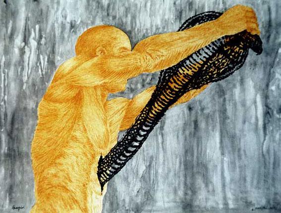 Haraquiri, Multivalencia Simbólica, Trascendencia, Analogía Mística, Antropología y Alquimia. Arte Contemporáneo y Filosofía Hermética (Dibujos con fuego y cenizas). Artes Visuales Cuba (Arte Cubano Contemporáneo) COVER