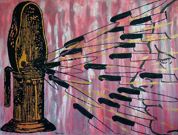 Discurso del Yo: Iluminación II, Multivalencia Simbólica, Trascendencia, Analogía Mística y Alquimia. Arte Contemporáneo y Filosofía Hermética (Dibujos con fuego y cenizas). Artes Visuales Cuba (Arte Cubano Contemporáneo) COVER