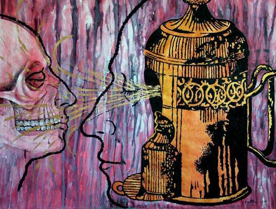 Discurso del Yo: Iluminación I, Multivalencia Simbólica, Trascendencia, Analogía Mística y Alquimia. Arte Contemporáneo y Filosofía Hermética (Dibujos con fuego y cenizas). Artes Visuales Cuba (Arte Cubano Contemporáneo) COVER
