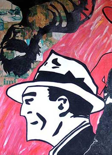 Andy Warhol, Dick Tracy and Me (Pop Art and Apocalypse Symbolic Discourse) Cultura de Masas, Warhol, Dick Tracy y yo, Génesis del Apocalipsis: visualidad e iconografía del Arte Pop. Arte Contemporáneo. Pintura Cubana (Arte Pop) Acrílico sobre Lienzo